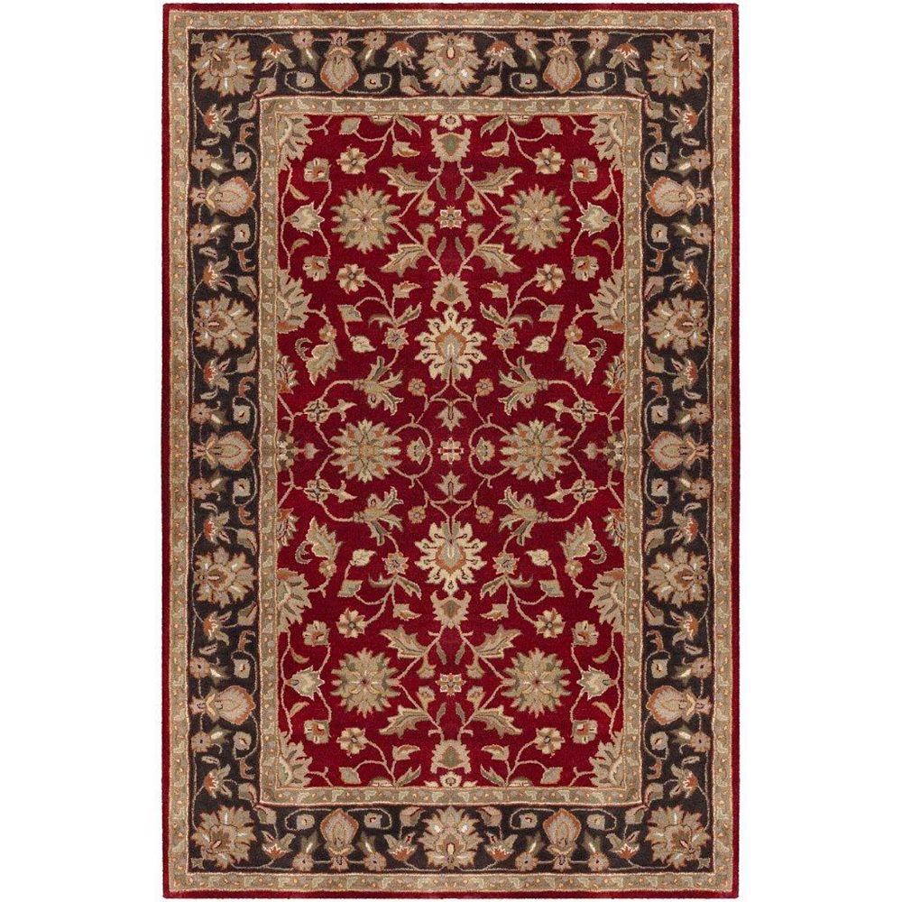 Artistic Weavers Carpette d'intérieur, 6 pi x 9 pi, style traditionnel, rectangulaire, rouge Palinges