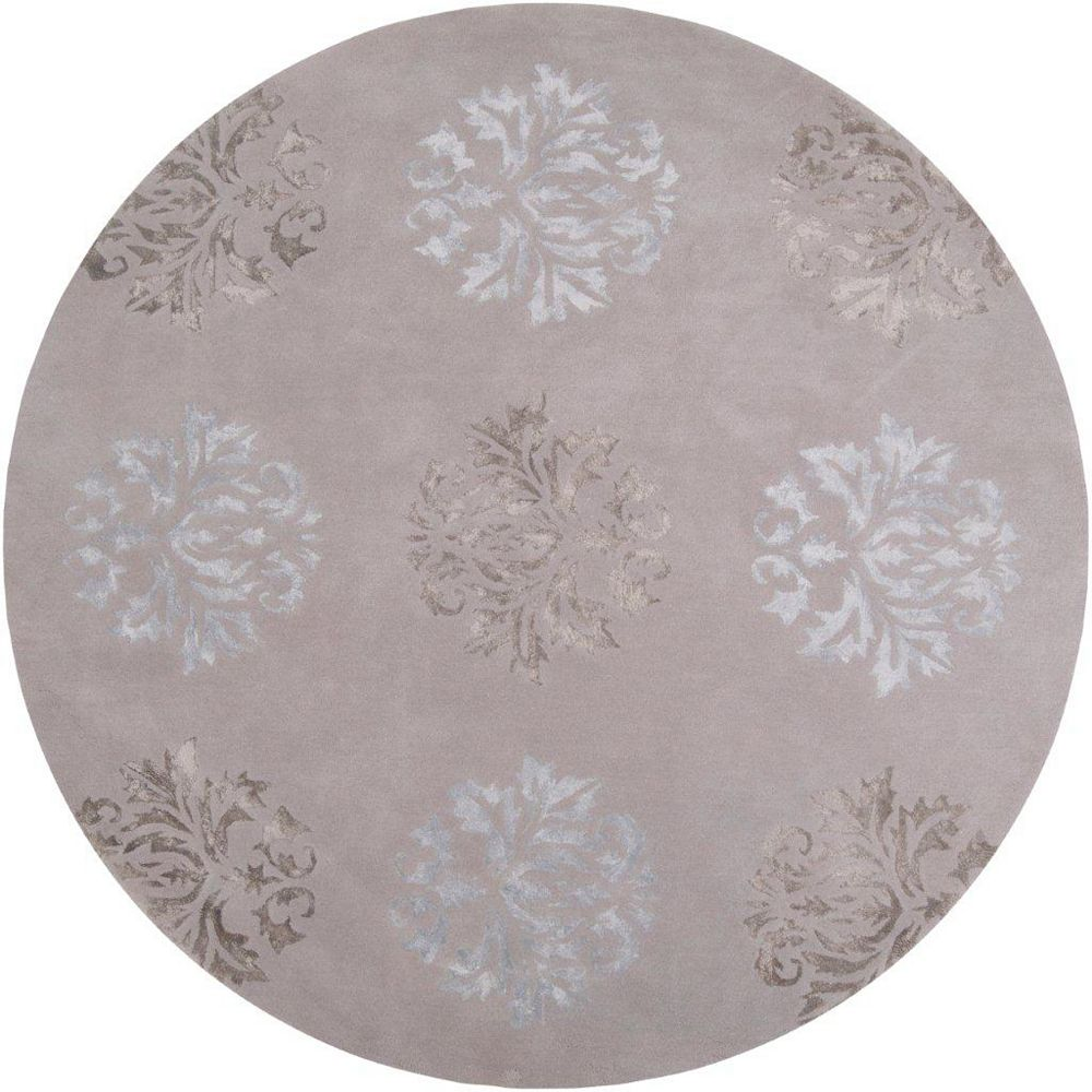 Artistic Weavers Penticton Grey 8 ft. x 8 ft. Indoor Transitional Round Area Rug