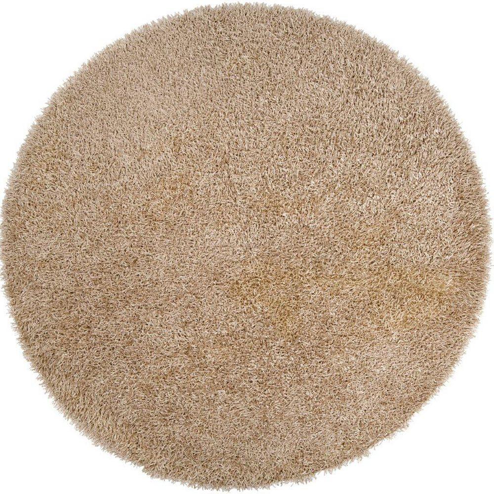 Artistic Weavers Carpette d'intérieur, 8 pi x 8 pi, à poils longs, ronde, or Powell
