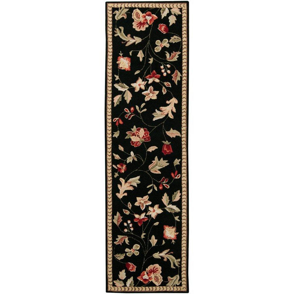 Artistic Weavers Quend Black 2 ft. 3-inch x 8 ft. Indoor Transitional Accent Rug
