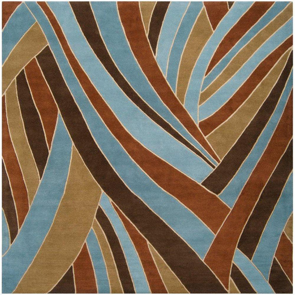 Artistic Weavers Carpette d'intérieur, 9 pi 9 po x 9 pi 9 po, style contemporain, carrée, bleu Querrien