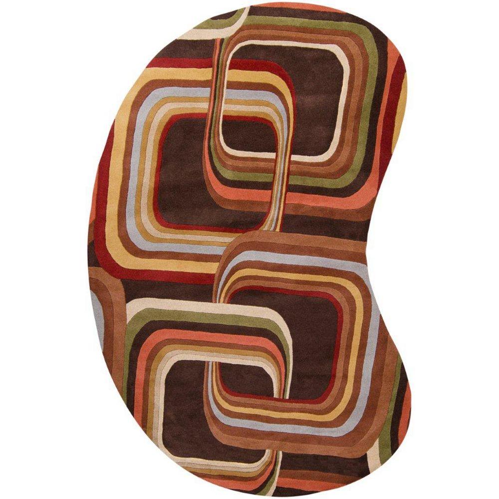 Artistic Weavers Rai Brown 6 ft. x 9 ft. Indoor Contemporary Irregular Area Rug