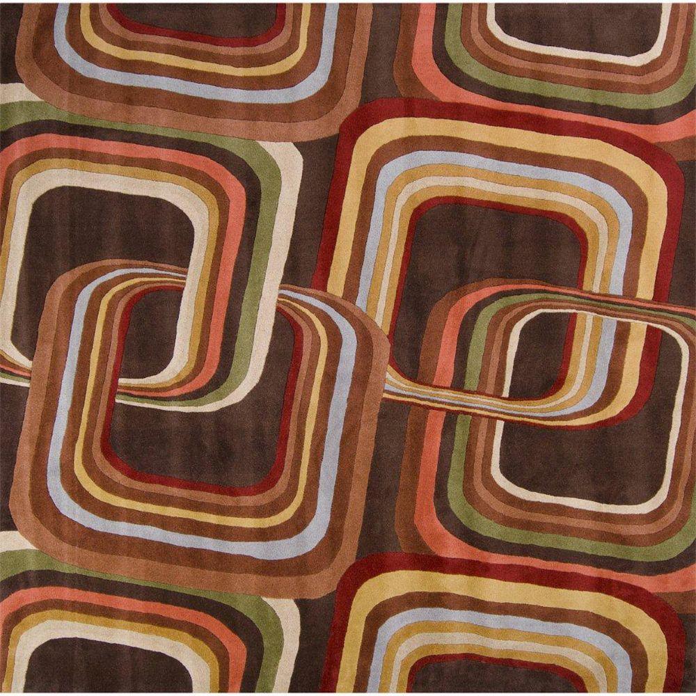 Artistic Weavers Rai Brown 8 ft. x 8 ft. Indoor Contemporary Square Area Rug
