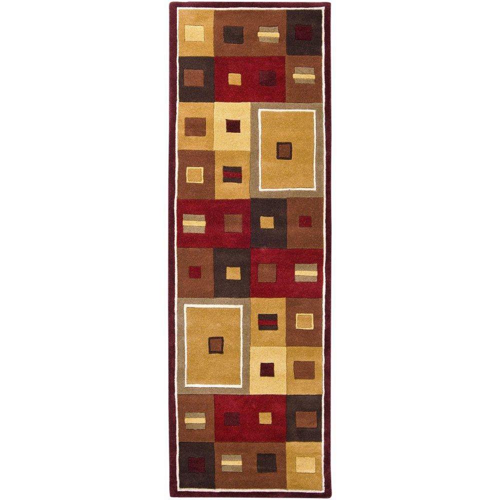 Artistic Weavers Ramatuelle Brown 3 ft. x 12 ft. Indoor Contemporary Runner