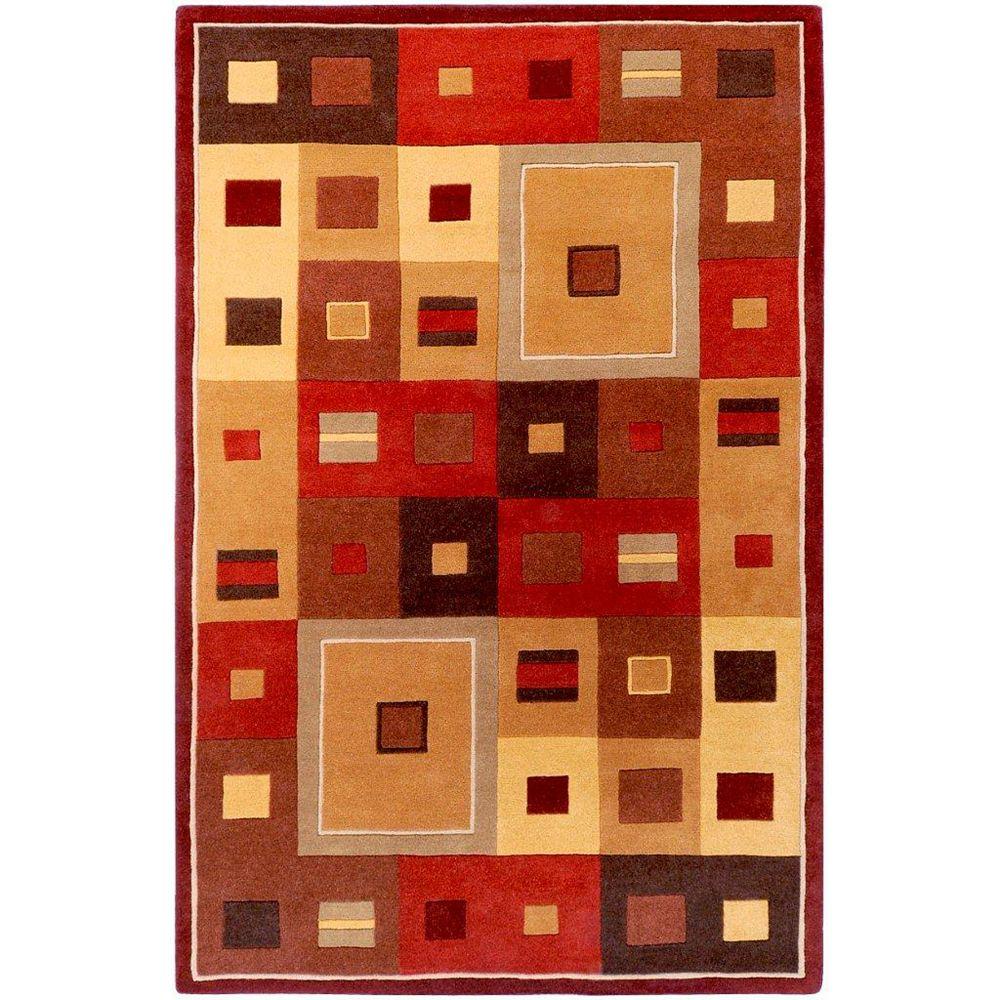 Artistic Weavers Ramatuelle Brown 4 ft. x 6 ft. Indoor Contemporary Rectangular Area Rug