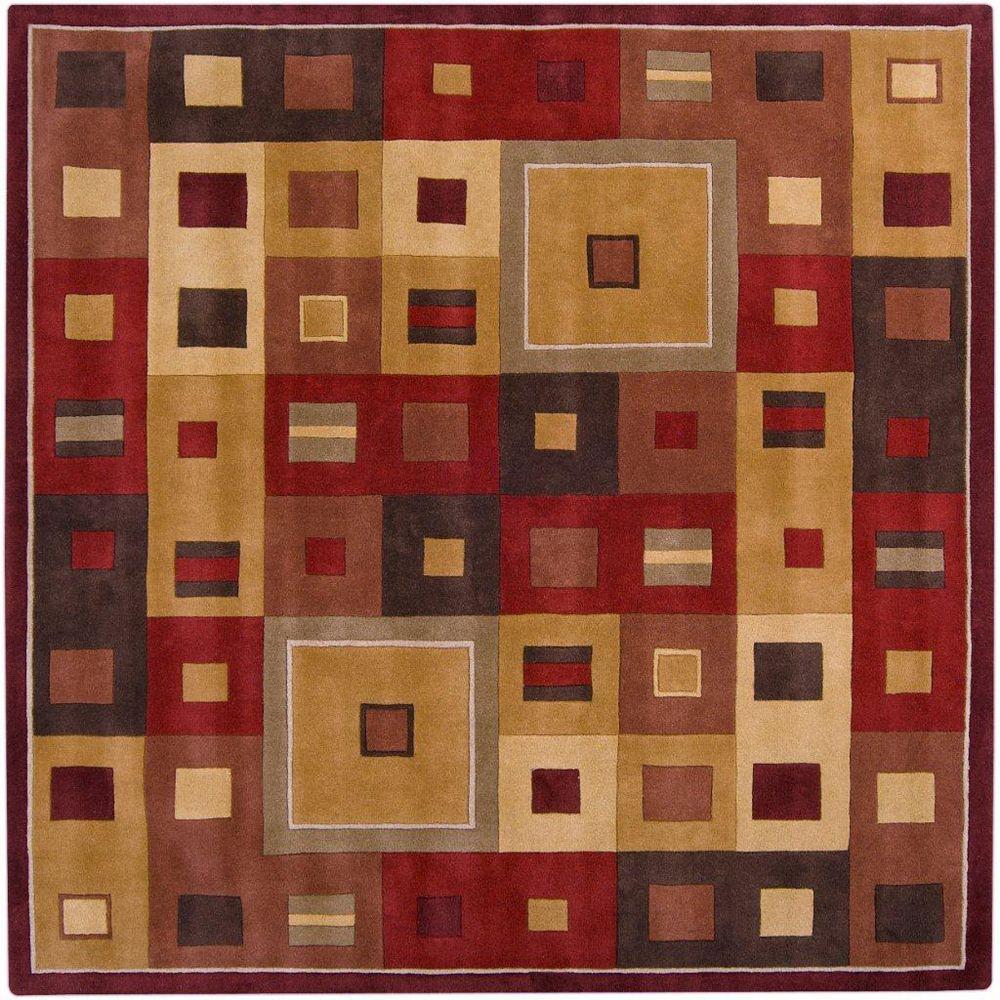 Artistic Weavers Carpette d'intérieur, 4 pi x 4 pi, style contemporain, carrée, brun Ramatuelle