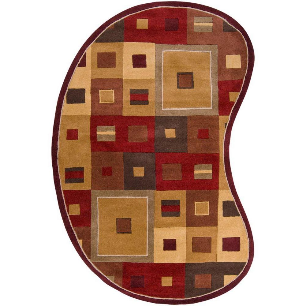 Artistic Weavers Ramatuelle Brown 8 ft. x 10 ft. Indoor Contemporary Irregular Area Rug