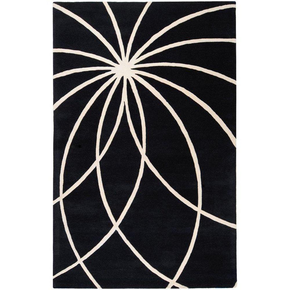 Artistic Weavers Rambouillet Black 4 ft. x 6 ft. Indoor Contemporary Rectangular Area Rug