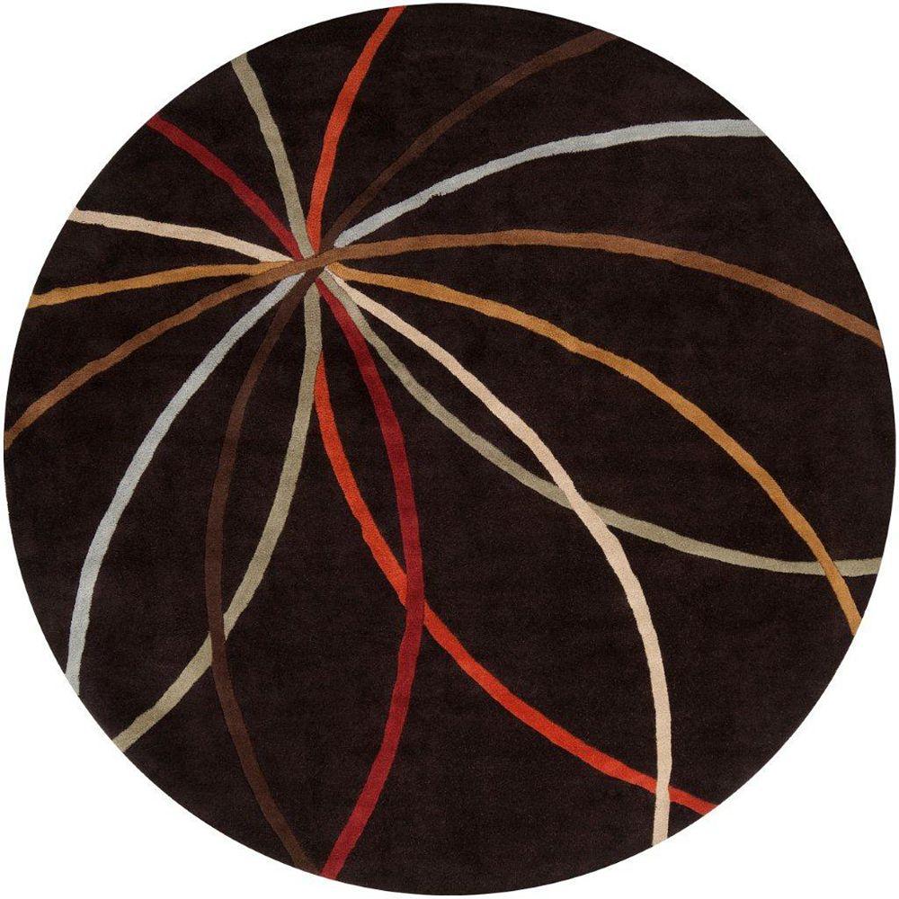 Artistic Weavers Sadirac Black 4 ft. x 4 ft. Indoor Contemporary Round Area Rug