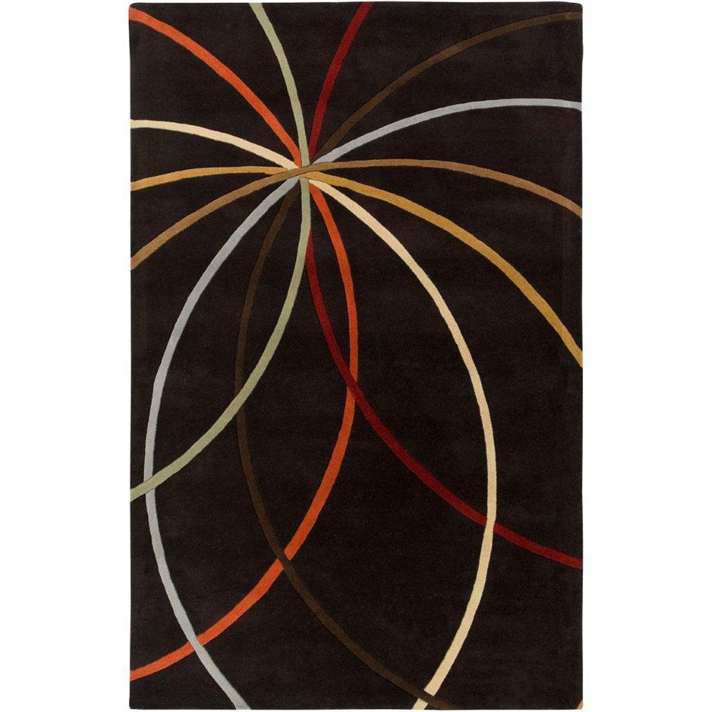 Artistic Weavers Sadirac Black 5 ft. x 8 ft. Indoor Contemporary Rectangular Area Rug