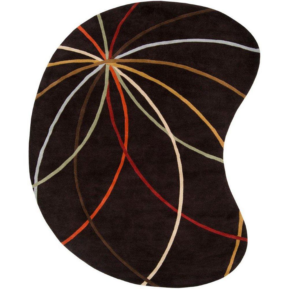 Artistic Weavers Sadirac Black 6 ft. x 9 ft. Indoor Contemporary Irregular Area Rug
