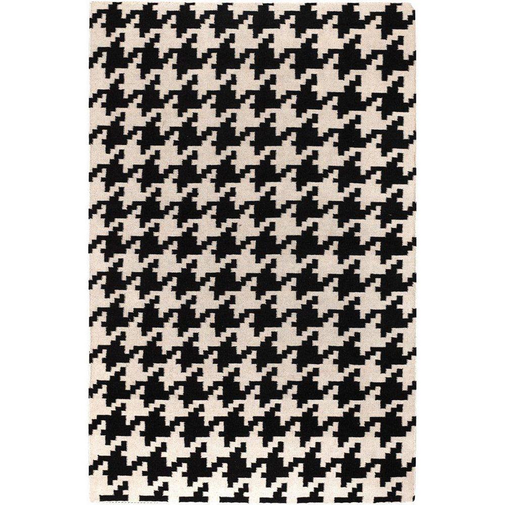 Artistic Weavers Carpette d'intérieur, 5 pi x 8 pi, à poils longs, style contemporain, rectangulaire, noir Sahurs