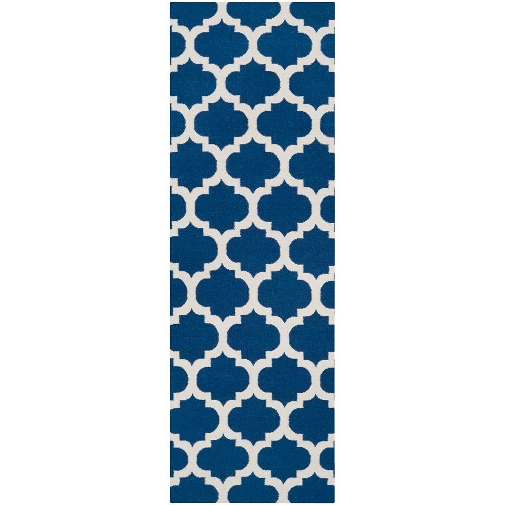 Artistic Weavers Taillades Blue 2 ft. 6-inch x 8 ft. Indoor Contemporary Runner