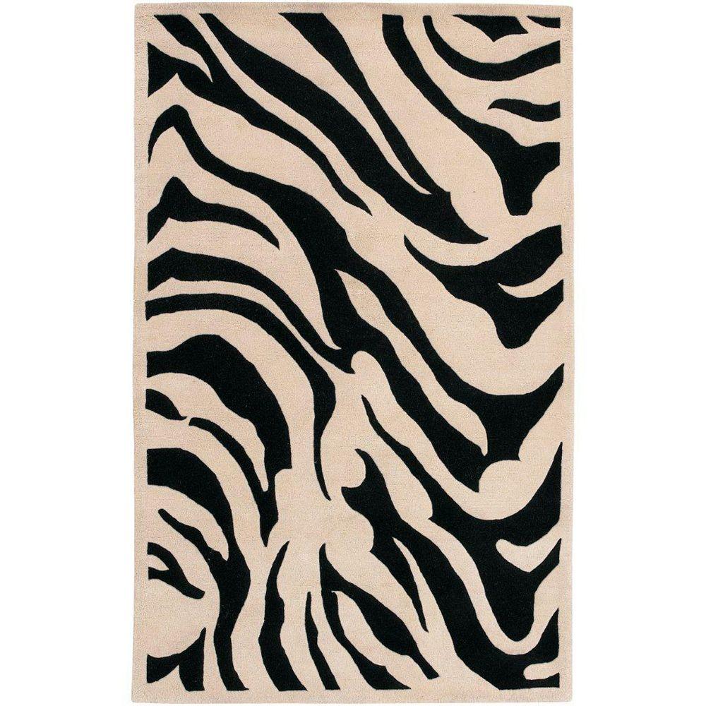 Artistic Weavers Carpette d'intérieur, 3 pi 3 po x 5 pi 3 po, style contemporain, rectangulaire, noir Talange