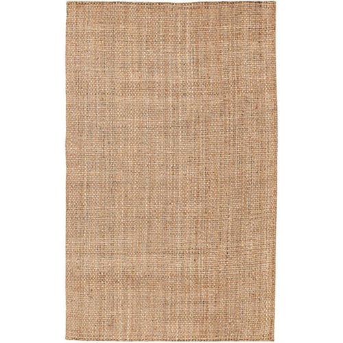 Urzy Beige Tan 5 ft. x 8 ft. Indoor Textured Rectangular Area Rug