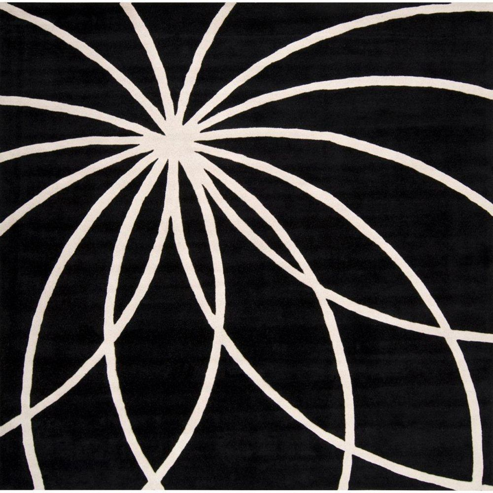 Artistic Weavers Carpette d'intérieur, 8 pi x 8 pi, style contemporain, carrée, noir Rambouillet