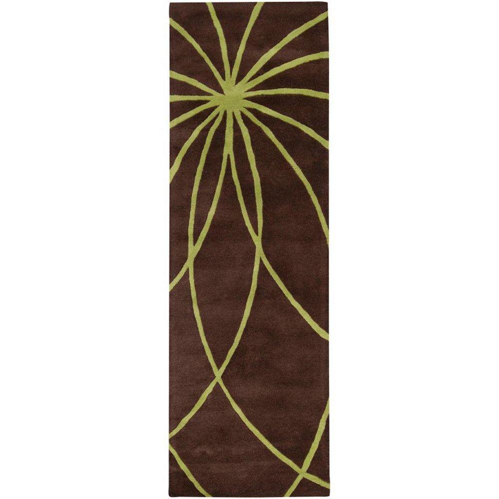 Artistic Weavers Tapis de passage d'intérieur, 3 pi x 12 pi, style contemporain, brun Randan