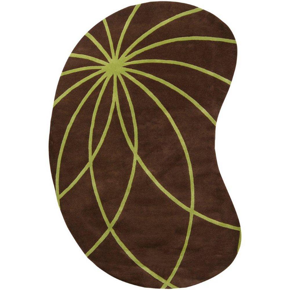 Artistic Weavers Carpette d'intérieur, 6 pi x 9 pi, style contemporain, forme irrégulière, brun Randan