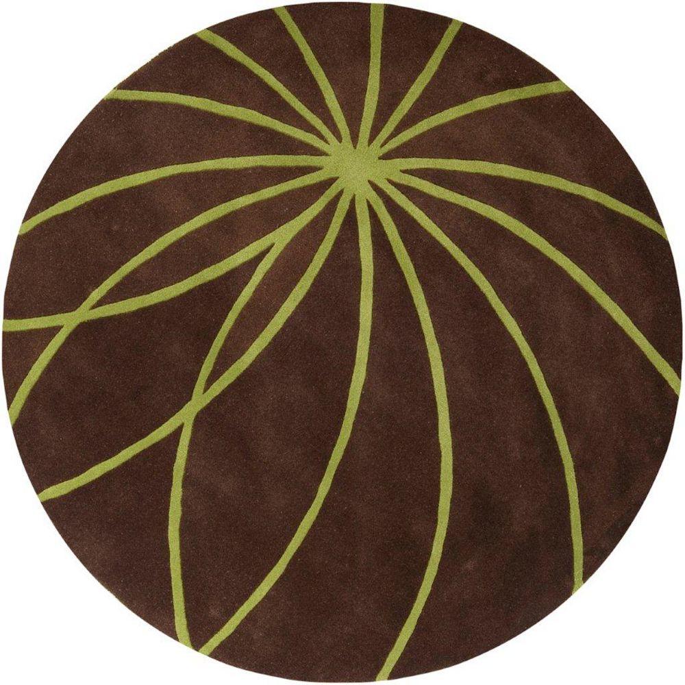 Artistic Weavers Randan Brown 8 ft. x 8 ft. Indoor Contemporary Round Area Rug