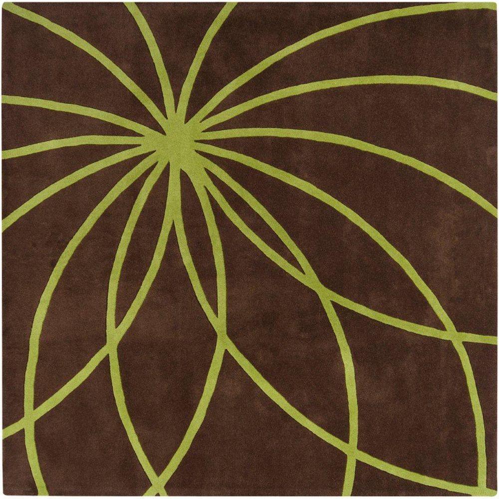 Artistic Weavers Randan Brown 8 ft. x 8 ft. Indoor Contemporary Square Area Rug