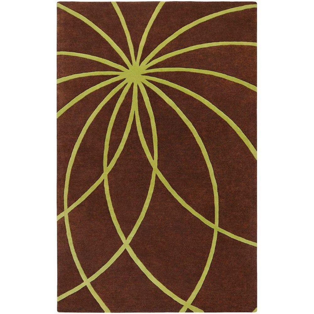 Artistic Weavers Carpette d'intérieur, 9 pi x 12 pi, style contemporain, rectangulaire, brun Randan