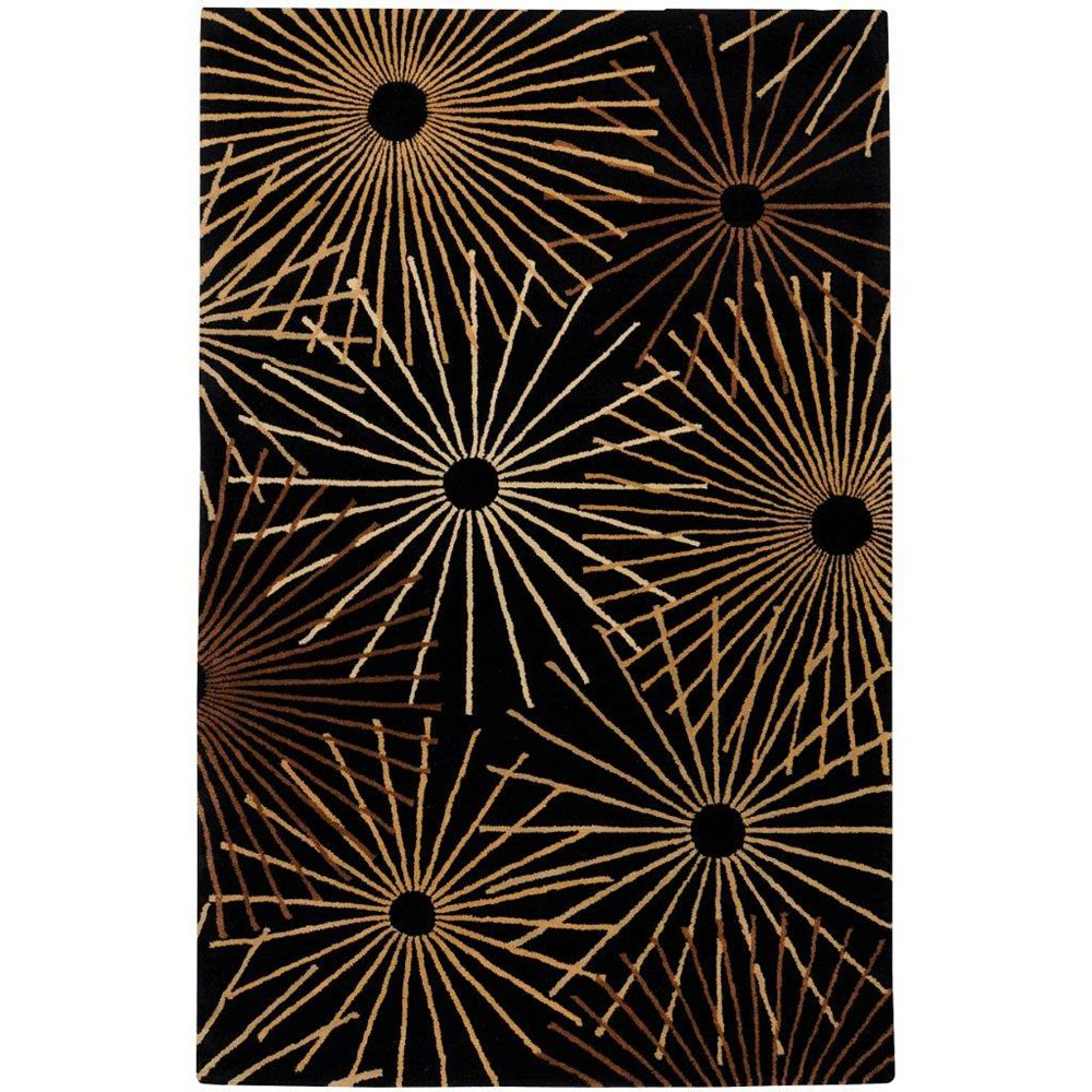 Artistic Weavers Rannee Black 6 ft. x 9 ft. Indoor Contemporary Rectangular Area Rug
