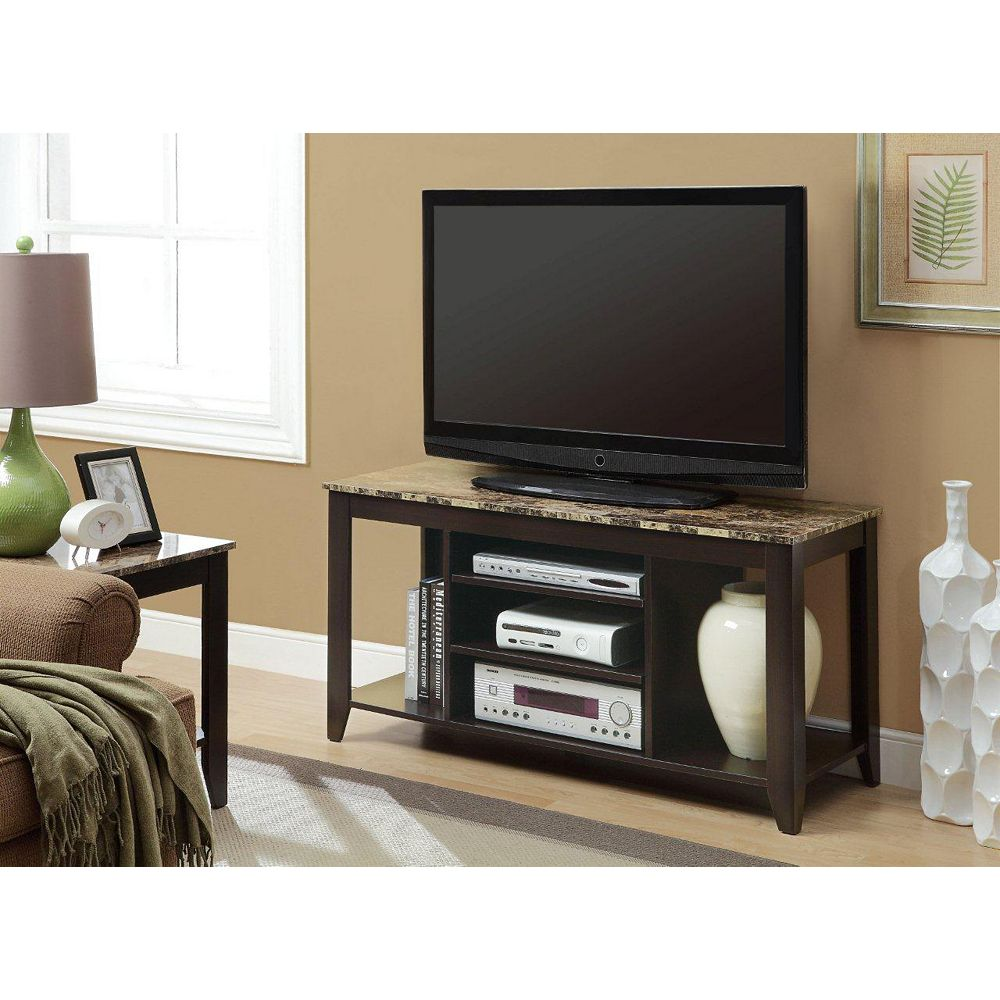 Monarch Specialties 47.5-inch x 24-inch x 18-inch TV Stand in Brown