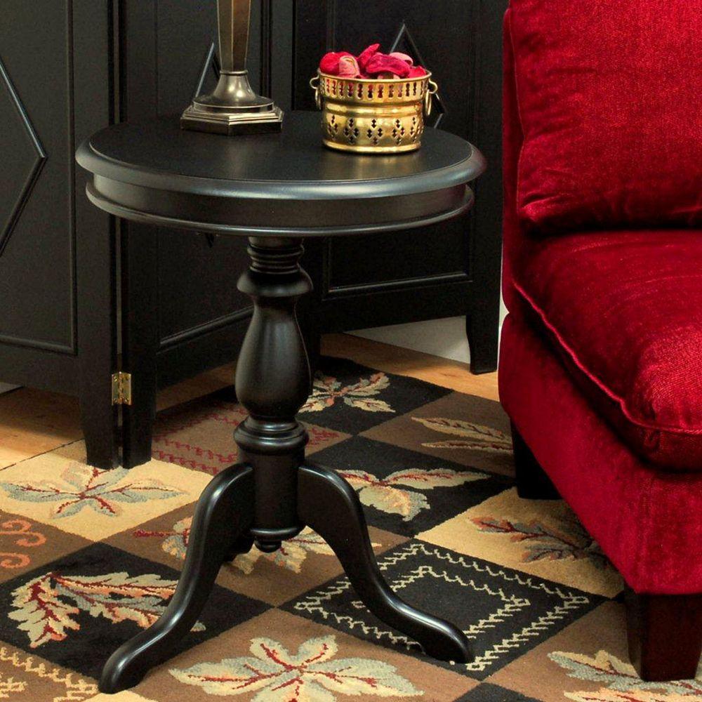Carolina Cottage Noir antique Table d'appui Gilda