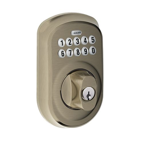 Plymouth Antique Pewter Keypad Electronic Deadbolt