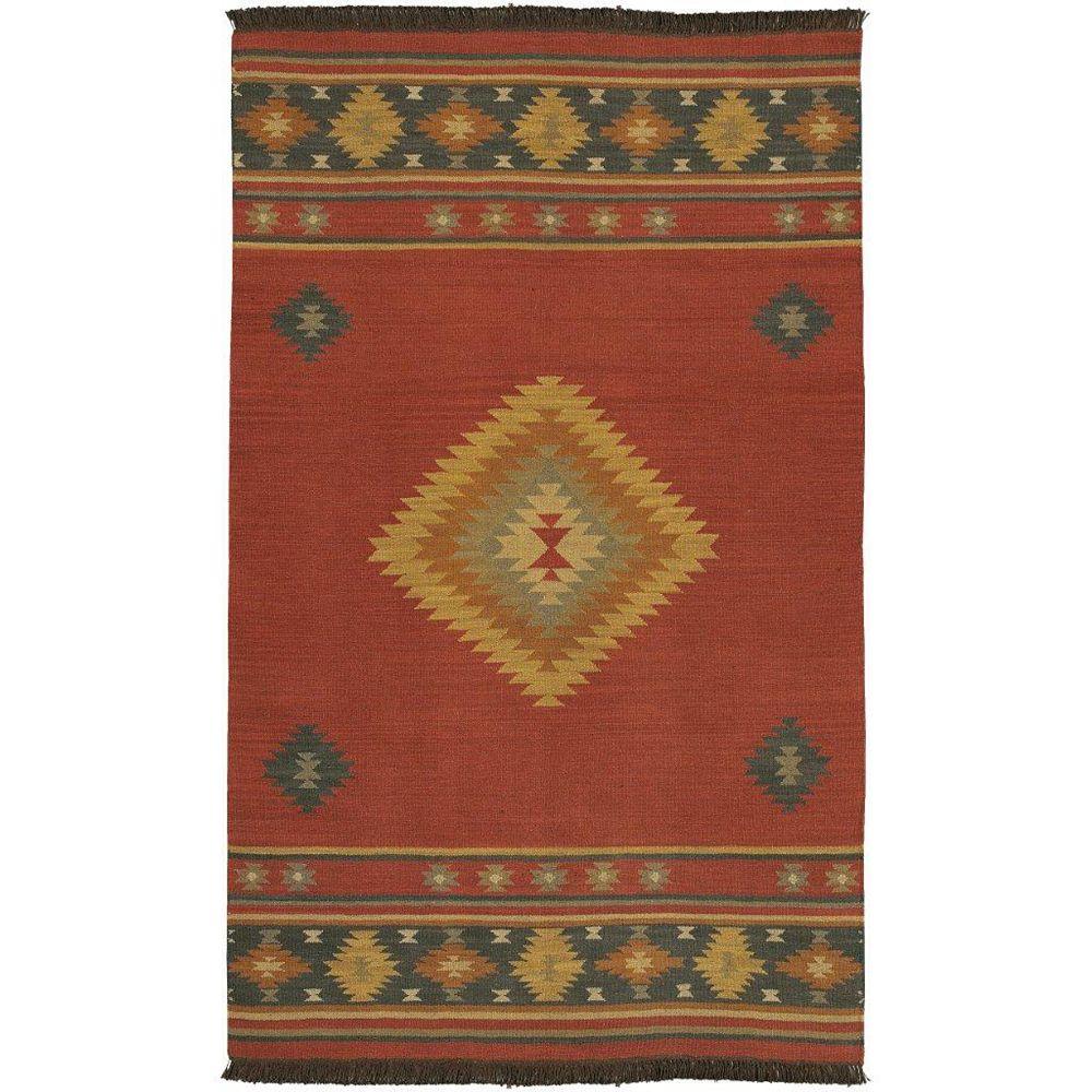 Artistic Weavers Carpette d'intérieur, 2 pi x 3 pi, tissage texturé, rectangulaire, rouge Vagney