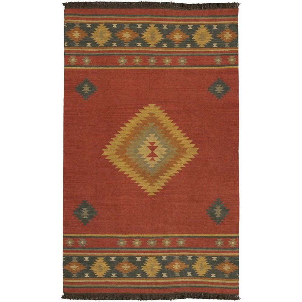 Artistic Weavers Vagney Red 3 ft. 6-inch x 5 ft. 6-inch Indoor Textured Rectangular Area Rug