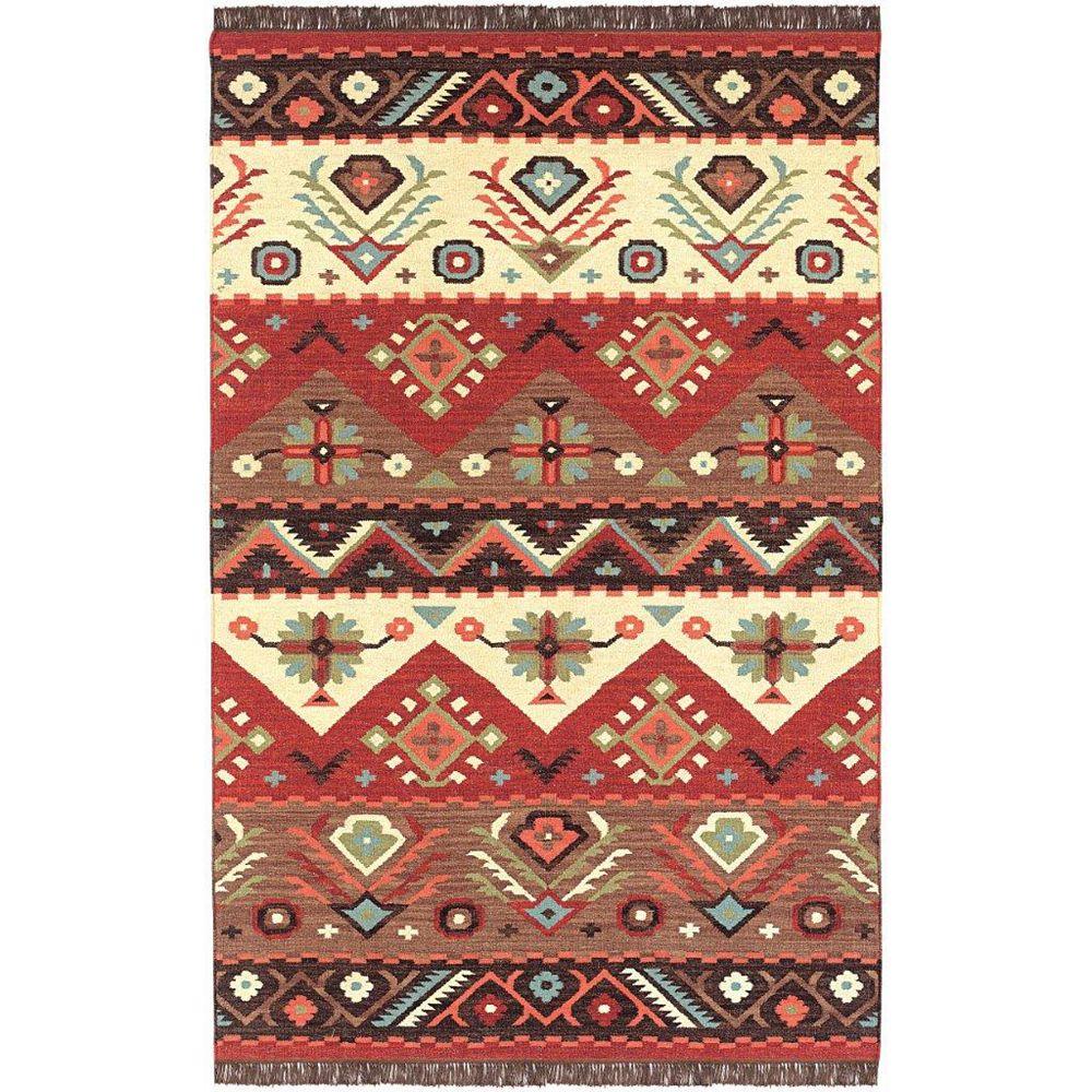 Artistic Weavers Vaiges Red 2 ft. x 3 ft. Indoor Textured Rectangular Accent Rug
