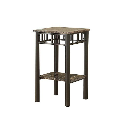 Table D'Appoint - Marbre Cappuccino / Metal Bronze
