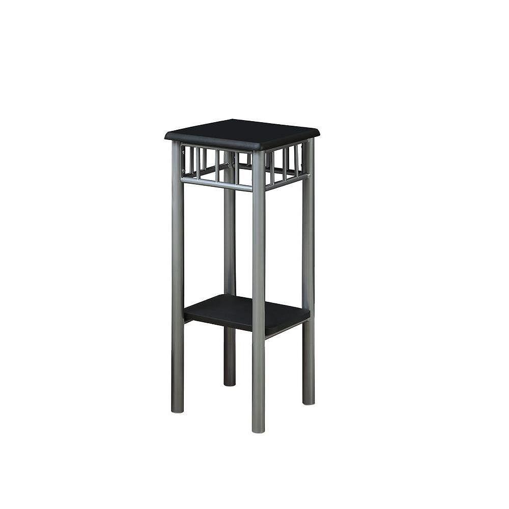Monarch Specialties Accent Table - Black / Silver Metal