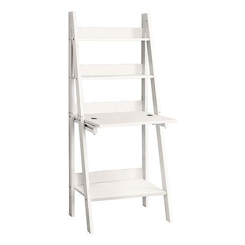61-inch H Ladder-Style Computer Desk in White