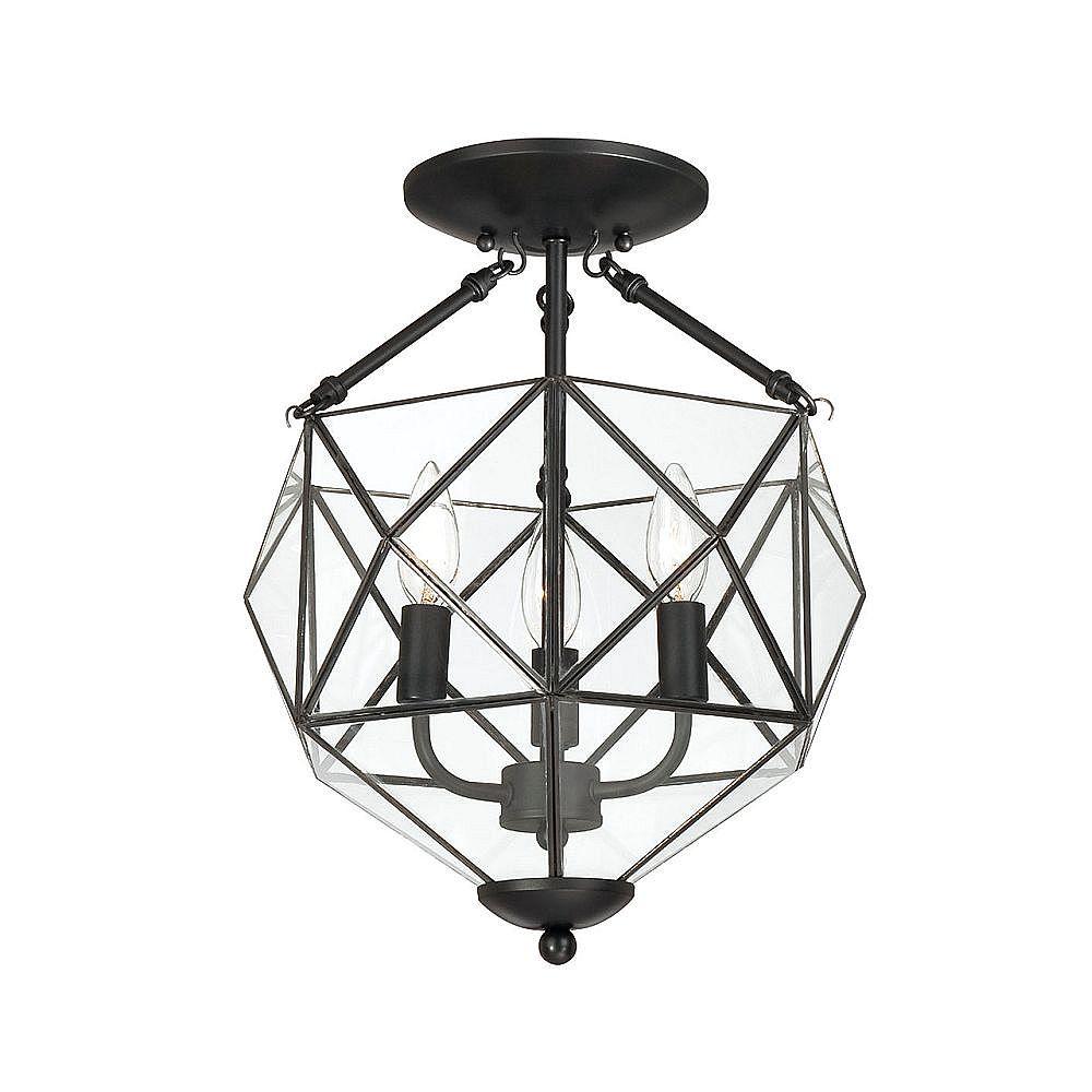 Home Decorators Collection Semi-Plafonnier à 3 Lumières, Collection Grayton