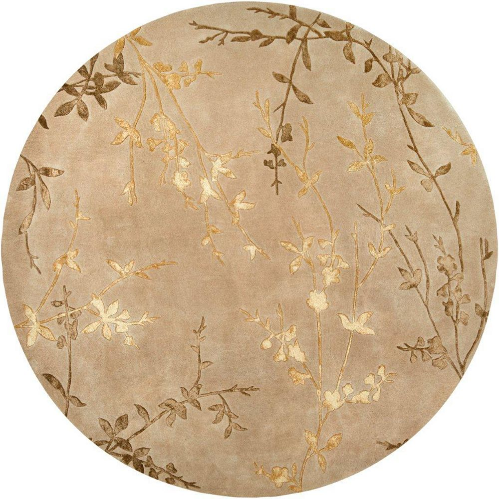 Artistic Weavers Vancouver Beige Tan 8 ft. x 8 ft. Indoor Transitional Round Area Rug