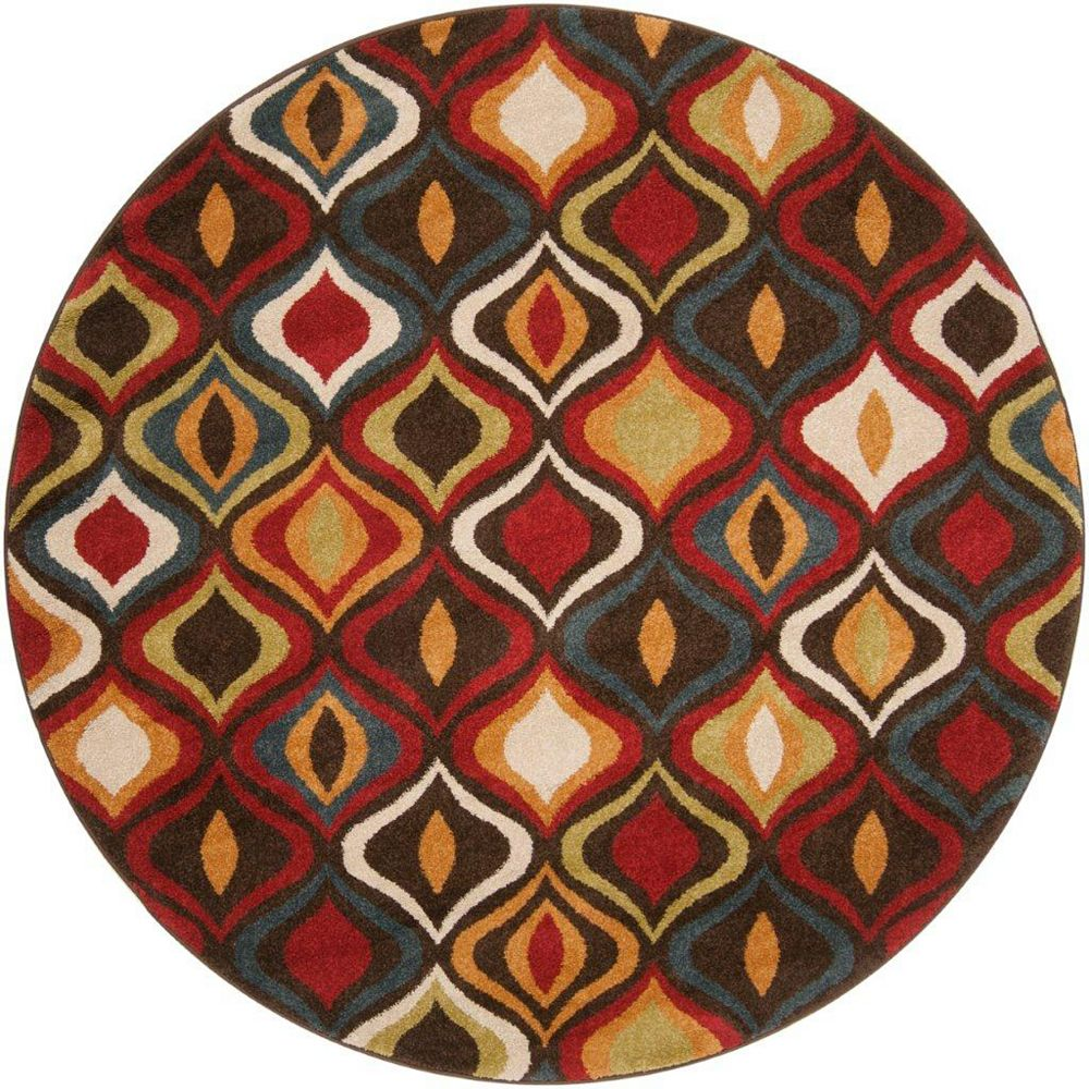 Artistic Weavers Carpette, 6 pi 7 po x 6 pi 7 po, ronde, brun Warhem