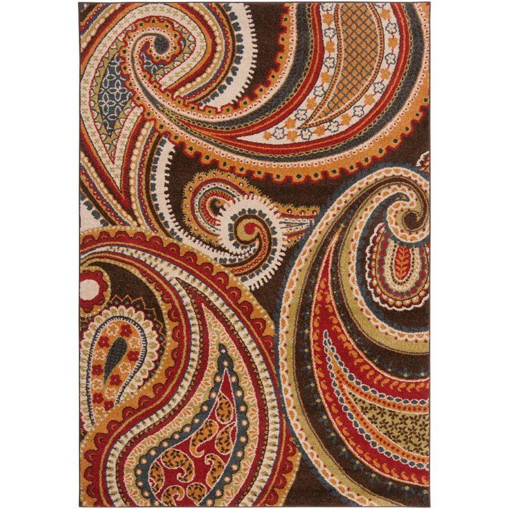 Artistic Weavers Carpette d'intérieur, 6 pi 7 po x 9 pi 6 po, style transitionnel, rectangulaire, rouge Ychoux