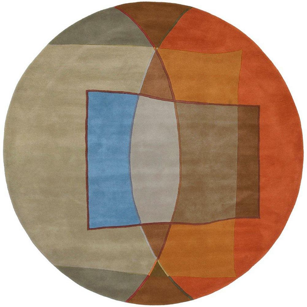 Artistic Weavers Yebleron Multi-Colour 7 ft. 9-inch x 7 ft. 9-inch Round Area Rug