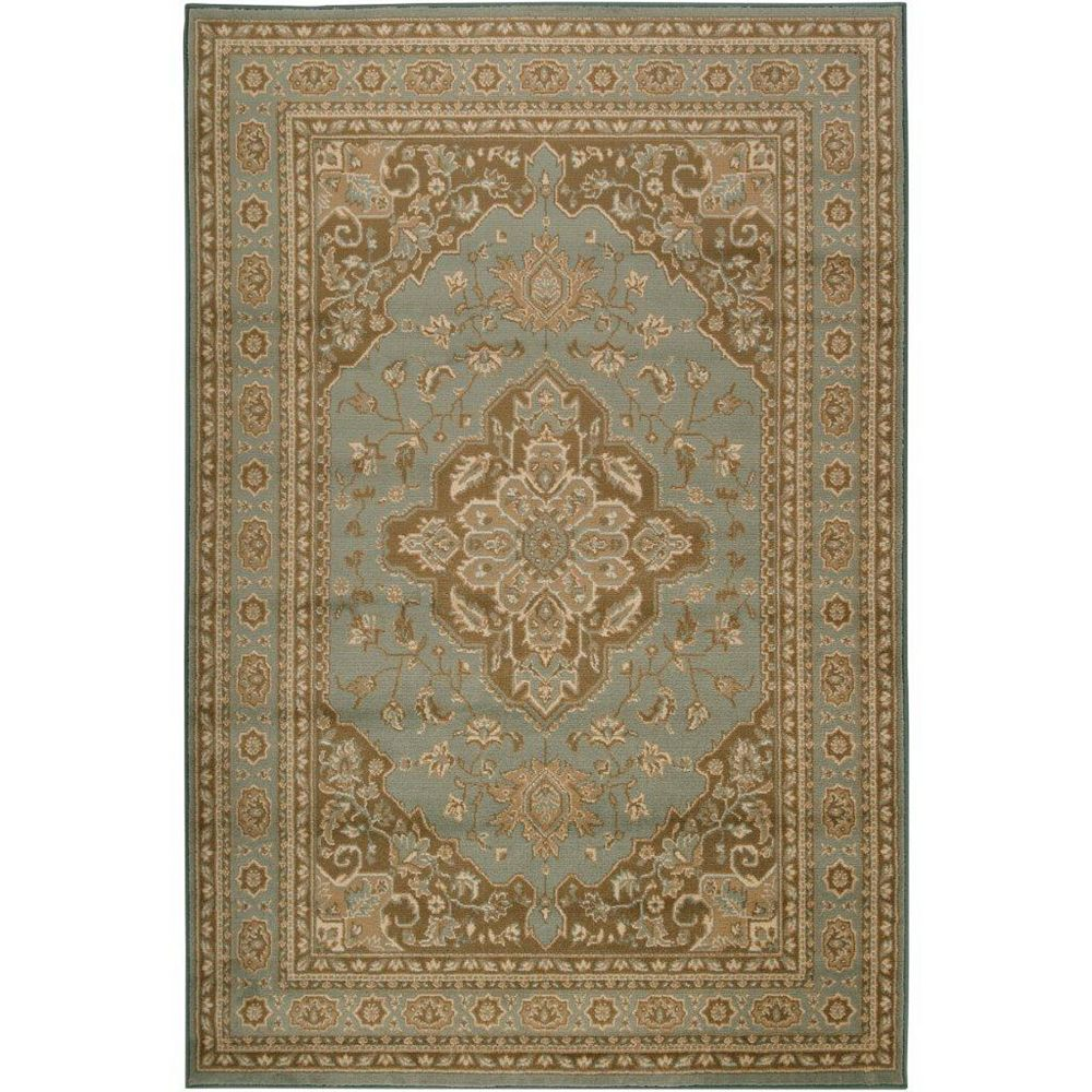 Artistic Weavers Yevres Blue 7 ft. 9-inch x 11 ft. 2-inch Indoor Transitional Rectangular Area Rug