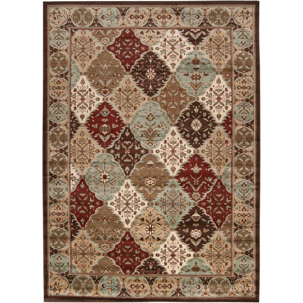 Artistic Weavers Yves Brown 5 ft. 3-inch x 7 ft. 6-inch Rectangular Area Rug
