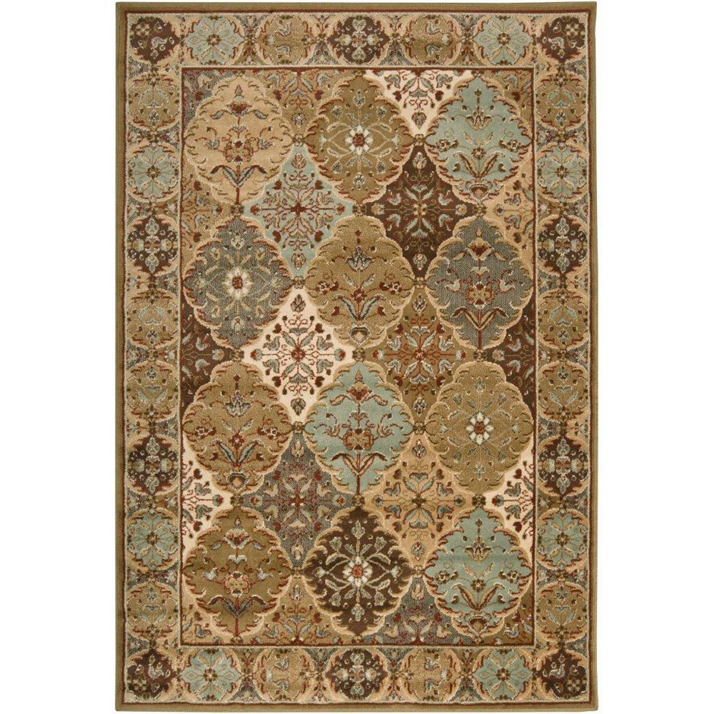 Artistic Weavers Yvetot Brown 7 ft. 9-inch x 11 ft. 2-inch Rectangular Area Rug