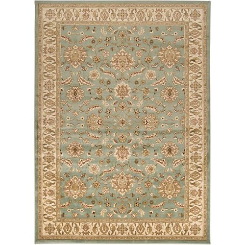 Artistic Weavers Zonza Blue 5 ft. 3-inch x 7 ft. 6-inch Indoor Transitional Rectangular Area Rug