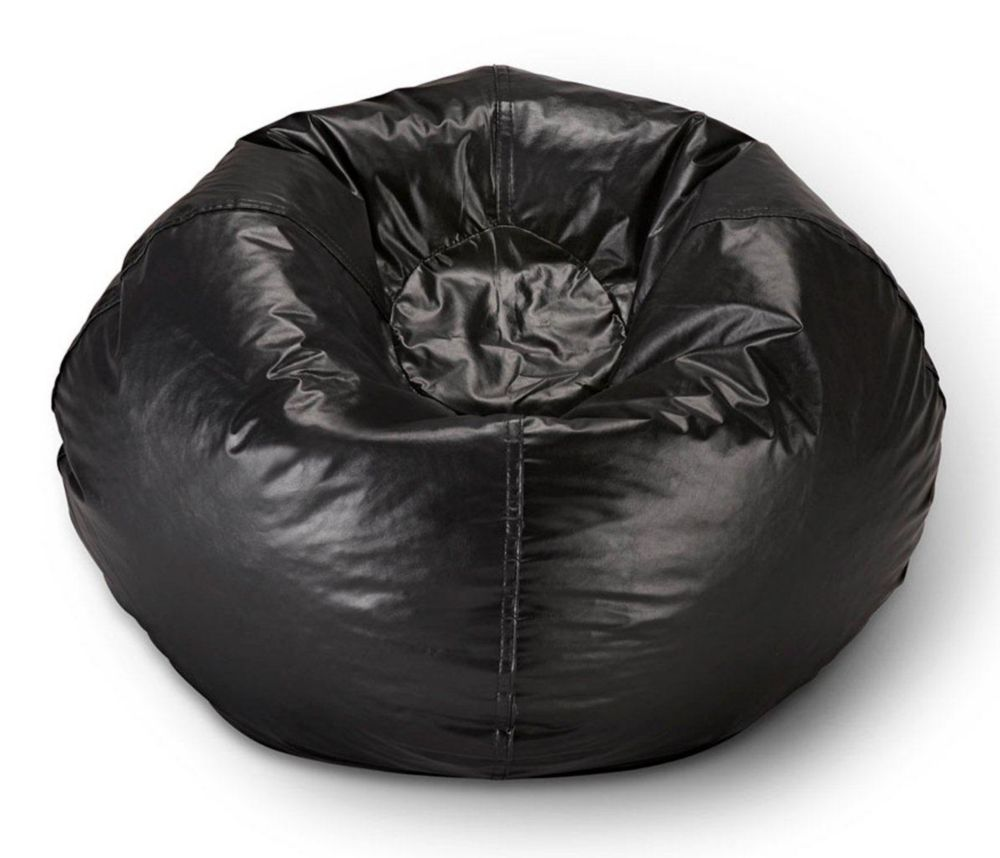 Miraculous 98 Inch Bean Bag Chair In Matte Black Dailytribune Chair Design For Home Dailytribuneorg
