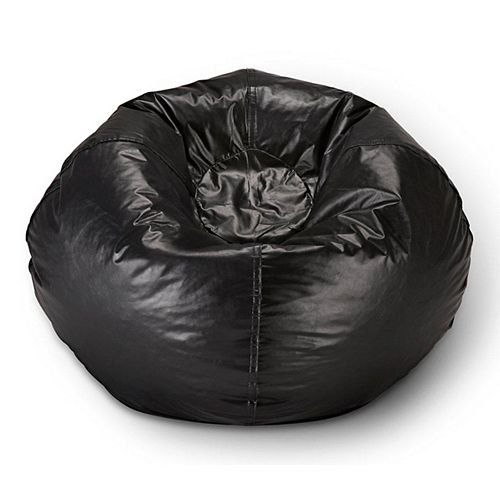 Bean Bag Chair in Matte Black