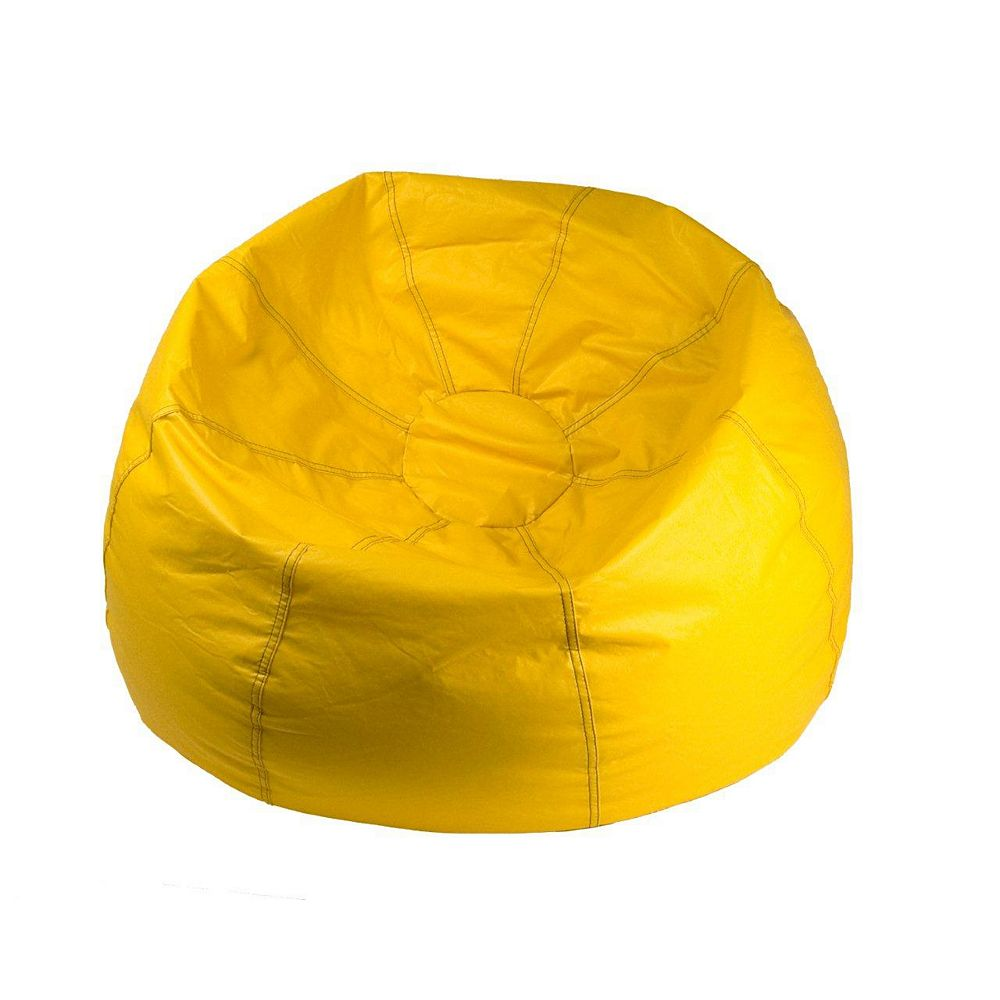 Ace Casual Furniture Jumbo 132-inch Bean Bag Chair in Yellow