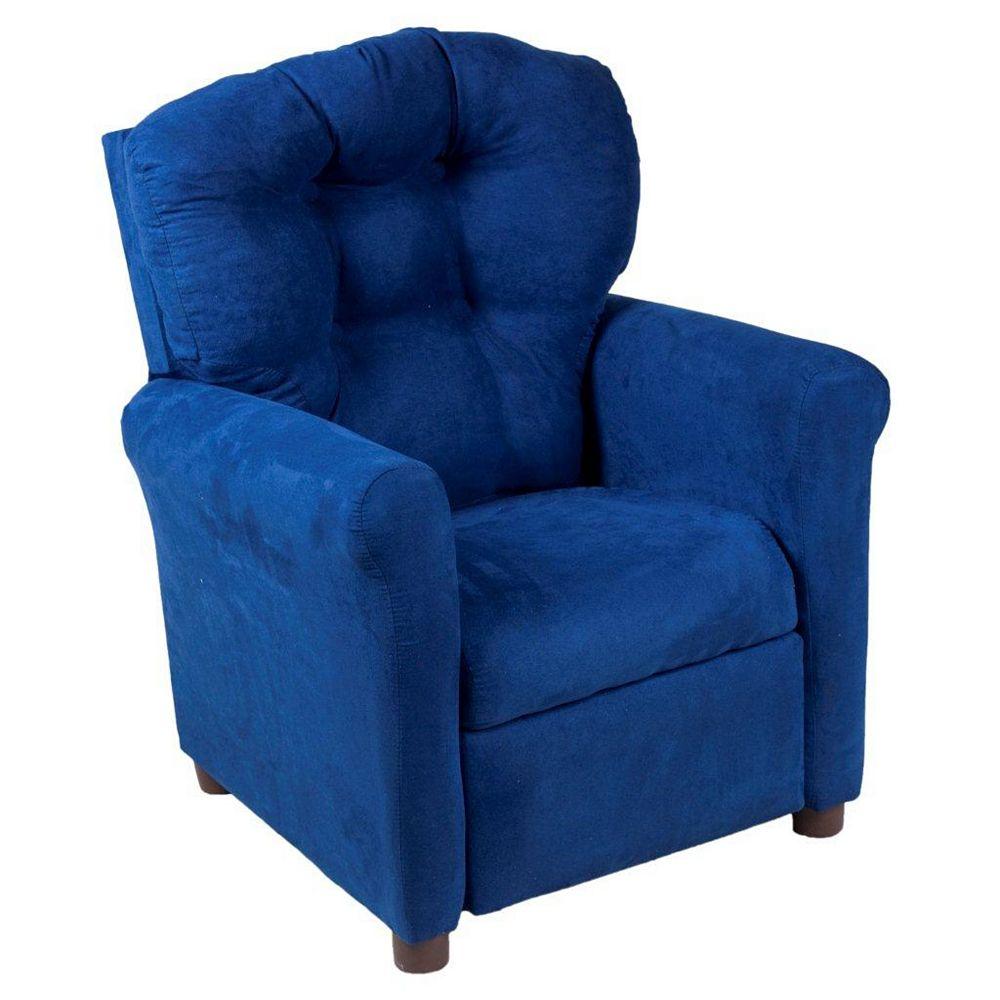 Ace Casual Furniture Fauteuil inclinable traditionnel pour adolescent en microfibre, essence indigo