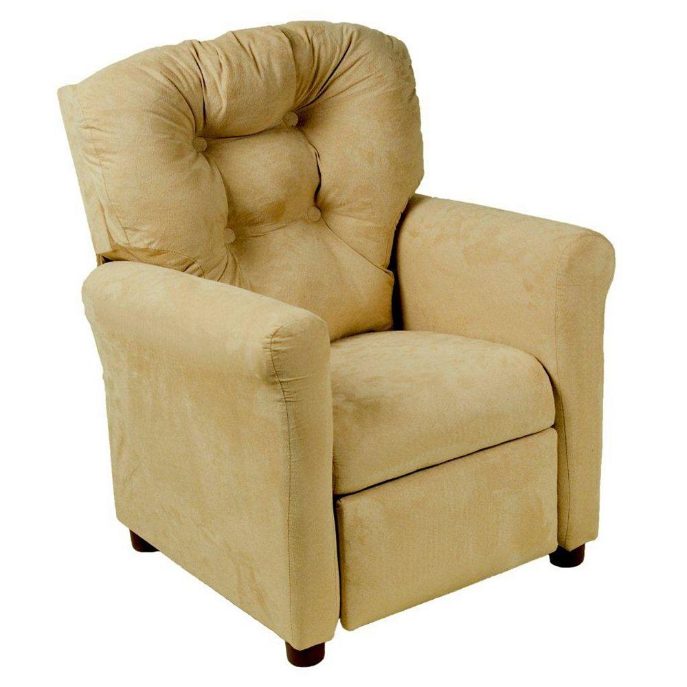 Ace Casual Furniture Brownstone Microfiber Traditional Juvenile Recliner