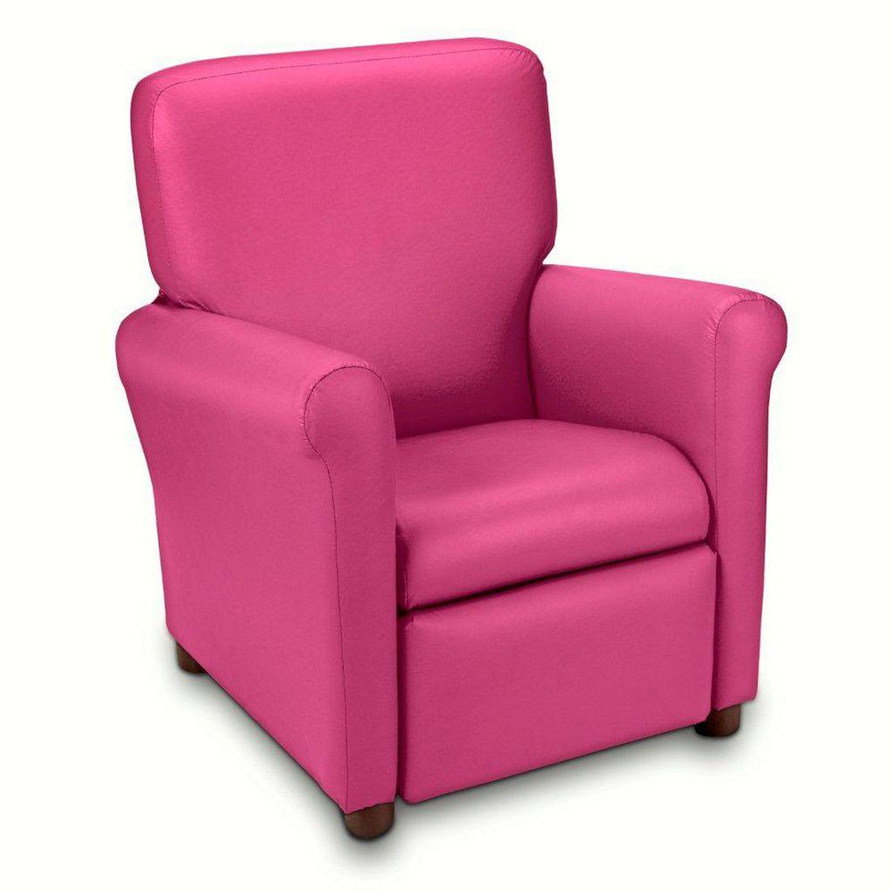 Ace Casual Furniture Fauteuil inclinable urbain pour adolescent en microfibre, rose sportif